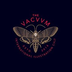 Logo design for The Vacuum by Brian Steely. Typography Logo, Typography Design, Logo Branding, Lettering, Logo Design, Graphic Design Branding, Icon Design, Line Art, Tattoo Graphic