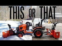 Front Mount Vs Rear Mount Snowblowers - Which Is Best? - YouTube Tractor Accessories, Lawn Mower, Tractors, Outdoor Power Equipment, Things To Come, Youtube, Lawn Edger, Grass Cutter, Garden Tools
