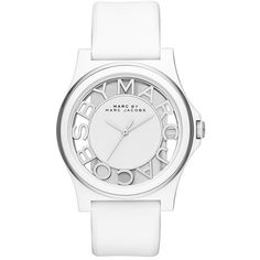 Women's MARC BY MARC JACOBS 'Henry Skeleton' Silicone Strap Watch,... ($150) ❤ liked on Polyvore featuring jewelry, watches, accessories, logo watches, dial watches, marc by marc jacobs, transparent watches and marc by marc jacobs watches