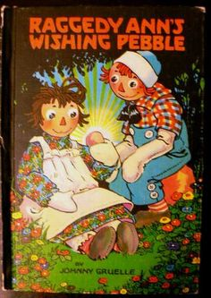 vintage childrens book RAGGEDY ANNS WISHING PEBBLE by Inktiques, $15.00