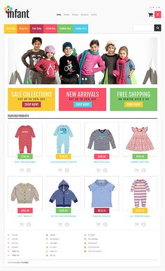 Template 44772 - Baby Clothes Responsive PrestaShop Theme with Bootstrap, HTML 5,  Admin Panel, Image Carousel, Image Zoom