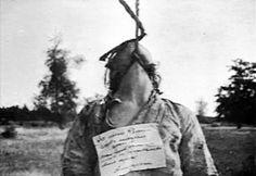 Woman hung by Nazis.