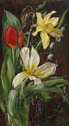 Anna Munthe-Norstedt (Swedish Artist, 1854-1936) Floral Still Life