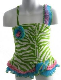 Animal print is so popular this summer you will see a lot of cute swimsuits for little kids and toddlers in various colors. Pinks, lime greens,...