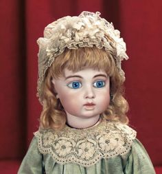 In Perfect Harmony : 266 French Bisque Bebe by Leon Casimir Bru with Antique Costume