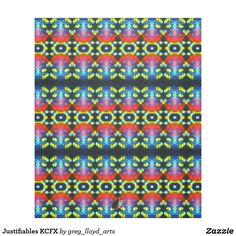 """Wrap yourself in this exotic fleece and be transported to a parallel universe that is extraordinarily symmetrical. Echoing the currently trending """"Ikat"""" style, this design uniquely blends abstract art, technology & Psychedelia. The origination image is from my Kinetic Collage """"Sweet Dreams"""" light show photos. Over 3000 products at my Zazzle online store. Open 24/7 World wide! http://www.zazzle.com/greg_lloyd_arts*?rf=238198296477835081"""