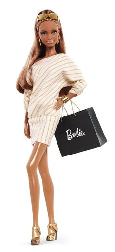 Barbie Collector The Barbie Look Collection: City Shopper African-American Doll: Toys & Games Mattel Barbie, Barbie 2013, Barbie Und Ken, Barbie Mode, Barbie Style, Poupées Barbie Collector, Diva Dolls, African American Dolls, Casual Day Dresses