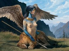 Sphinx, Michele Parisi on ArtStation at https://www.artstation.com/artwork/mLq5a