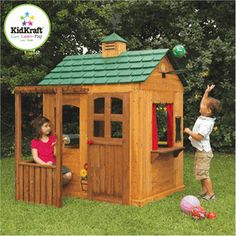 Your children will have tons of fun playing in this unique style Kidkraft Wooden Outdoor Activity Playhouse. Come check out this Kidkraft Activity Playhouse today! Build A Playhouse, Playhouse Outdoor, Outdoor Toys, Outdoor Fun, Outdoor Ideas, Playhouse Ideas, Backyard Ideas, Outdoor Spaces, Outdoor Stuff