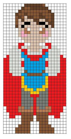 Disney Snow White Prince Charming - using these Perler bead patterns to create a patchwork, knit blanke Pearler Bead Patterns, Perler Patterns, Loom Patterns, Beading Patterns, Cross Stitch Patterns, Perler Bead Designs, Hama Beads Disney, Perler Beads, Disney Quilt