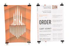 Din Specimen Sheet by Aoife McKenna, via Behance Portfolio Design, Bar Chart, Behance, Portfolio Design Layouts, Bar Graphs