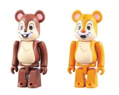 """Medicom Chip  and  Dale Bearbrick 2-Pack by Diamond Comic Distributors. $22.49. Fondly remembered for their theatrical shorts and Chip  and  Dale's Rescue Rangers TV series. Imported from Japan. Window box packaging. A favorite animated comedy team for generations. Each figure stands 2"""" high. From the Manufacturer                Imported from Japan.  Chip and Dale, the chipmunk duo, have long been fan-favorite Disney characters.  Whether the team is confounding Donald Duck or..."""