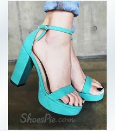 Candy, Platform Sandals , $59.99, New Arrival Candy Colour Coppy Leather Chunky Heel Sandals