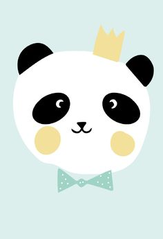 Eef Lillemor 'A3 Poster King Panda'