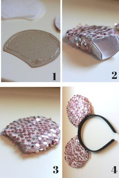 These DIY Mickey Ears are made with your Cricut Maker. They are so fun and easy to make that you will want to make yourself a few pairs for your next Disneyland trip! This post contains affil… Diy Mickey Mouse Ears, Diy Disney Ears, Disney Mickey Ears, Mini Mouse Ears Diy, Mickey Mouse Headband, Minnie Mouse Ears Disneyland, Micky Ears, Disney Bows, Diy Headband