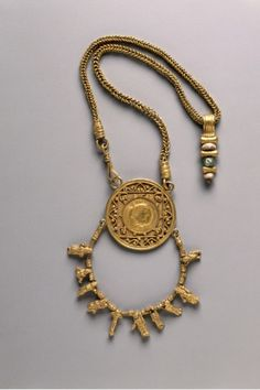 Collar with Medallion and Pendant, 200-300                                                Egypt, Alexandria, Roman, 3rd century
