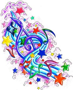 Music Design 1 by Usagi-Rukia on DeviantArt Music Related Tattoos, Music Tattoos, Music Notes Art, Art Music, Music Tattoo Sleeves, Sleeve Tattoos, Note Tattoo, I Tattoo, Musik Wallpaper