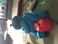 Cookie monster from fondant Cupcake Cakes, Cupcakes, Cookie Monster, Fondant, Cookies, Crack Crackers, Cupcake, Fondant Icing, Cookie Recipes