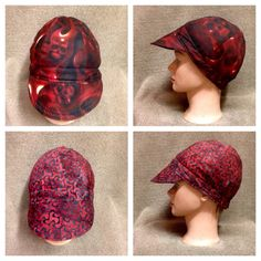 Welder Cap Reversible Skulls on Fire  with by ItchinToBeStitchen