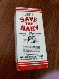 1930s 1939 vintage antique Lees Save the Baby As I child I remember this was always by the woodstove keeping warm and handy - worked better that Vicks or similar products. Wish the orginal was still available..I have the last drops in the bottle warming by my woodstove now...