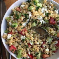 Mediterranean Barley Salad - leave off the feta