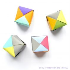 A very cute video tutorial shows you how to make these easy origami paper cubes.