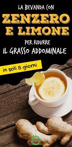 La bevanda con zenzero e limone per ridurre il grasso addominale e appiattire la pancia in soli 5 giorni
