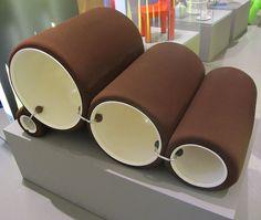 """ 12 - ITALY - Tube Chair Flexform - brown bicolor armchair Triennale Design Museum - Joe Colombo - Tube Chair - Wikipedia"
