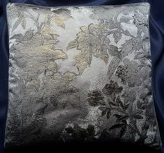 Throw Pillow Silver and Gold Silk Lampas Rubelli Fabric Dorian Gray Pattern Cushion Cover - Made in Italy by OggettiVeneziani on Etsy