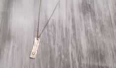 Gold Bar Necklace / Engraved Horseshoe Necklace / Horseshoe Necklace /  Gold Horse Shoe Necklace by niccoletti®