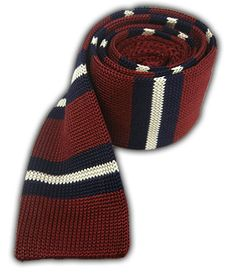 Knitted Prep Stripe - Burgundy/Navy | Ties, Bow Ties, and Pocket Squares | The Tie Bar