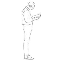 Man reading a book