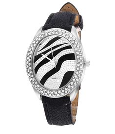 Loved it: Tropez Women's Oval Dial Crystal Studded Black Strap Watch, http://www.snapdeal.com/product/tropez-womens-oval-dial-crystal/1954951985