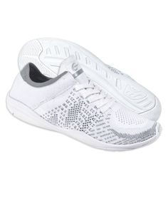 Chassé® HighLyte. Extremely lightweight at 4.6oz. Maximum flexibility and comfort. White and gray woven knit fabric. Rubber toe and heel pods.