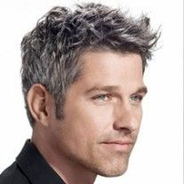 More men should go gray :) love the tousled hair want to try this cut