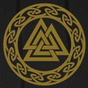 Norse Symbols Valhalla   Valknut, Wotan's Knot, Walknot, Odin, Valhalla Hoodies