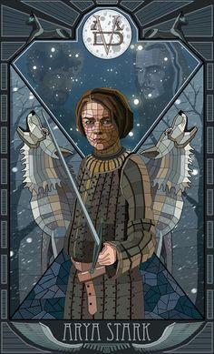 Game of Thrones Glasmalerei inspiriert Fankunst von Sandor Clegane, Arya Stark, Ja . - Game Of Thrones Game Of Thrones Artwork, Game Of Thrones Tv, Game Of Thrones Quotes, Arya Stark, Art Magique, Tarot, Game Of Thones, Fanart, King In The North