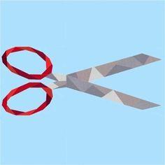 Geometric Scissors Paper Pieced Pattern