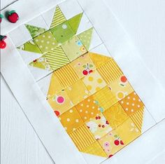 Fun Fruit themed Quilts for you to sew - Red Brolly