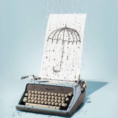Keira Rathbone Typewriter Artist. Collaboration Keira Rathbone + Johanna Parkin.