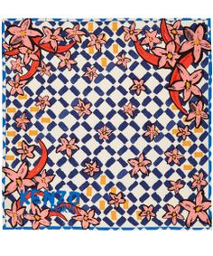Colourful silk scarf from Kenzo available at Liberty.co.uk #LibertyScarves
