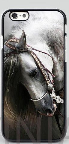 White Horse black mobile phone case