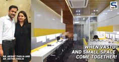 The challenge offered was to design an office space in such a small area and that too keeping vastu in my mind. The directors cabin was provided at SW corner facing North and a pantry at the eastern face. The use of Yellow color Duco paint adds to the vibrant concept.