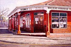 John Kramer - South African Artist Corner Cafe, African House, South African Artists, Art Walk, Unique Paintings, Art And Architecture, Home Art, Lightroom, Landscape Photography