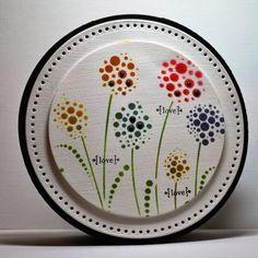 Dotty Flowers Circle