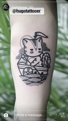 _Done in Seoul_Hugo-tattooer Home Tattoo, Cat Tattoo, Line Art Tattoos, Body Art Tattoos, Tatoos, Hugo Tattooer, Diamond Tattoos, Tattoo Spirit, Bild Tattoos