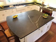 Durable Soapstone...Kitchen Countertop Styles and Trends | Kitchen Designs - Choose Kitchen Layouts & Remodeling Materials | HGTV