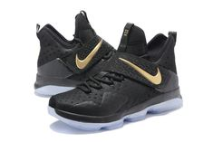 New LeBron James Shoes Black Gold Lebron 14 XIV Championship 20116 2017