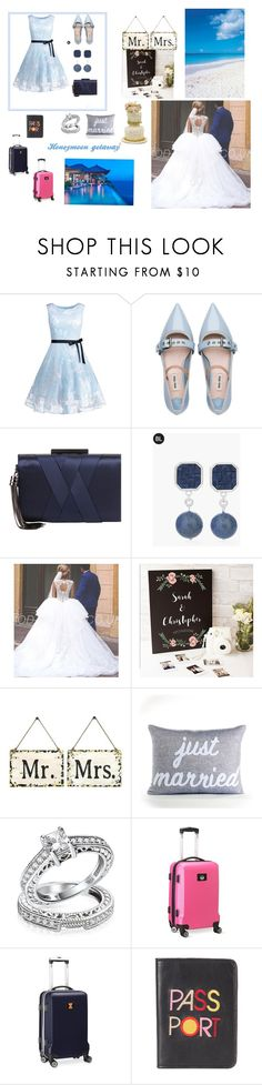 """""""My best friends wedding."""" by reemalmazidi ❤ liked on Polyvore featuring Miu Miu, Sondra Roberts, Chico's, Cathy's Concepts, Home Decorators Collection, Alexandra Ferguson, Bling Jewelry, Denco Sports Luggage and Lizzie Fortunato"""
