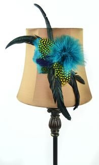DIY Lamp Shade with Feathers